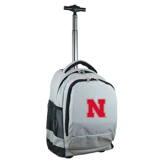 CLNBL780-GY: NCAA Nebraska Cornhuskers Wheeled Premium Backpack